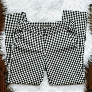 Donna Ricco Gingham Checkered Ankle Crop Pants